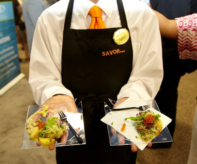 SAVOR Server with small plates